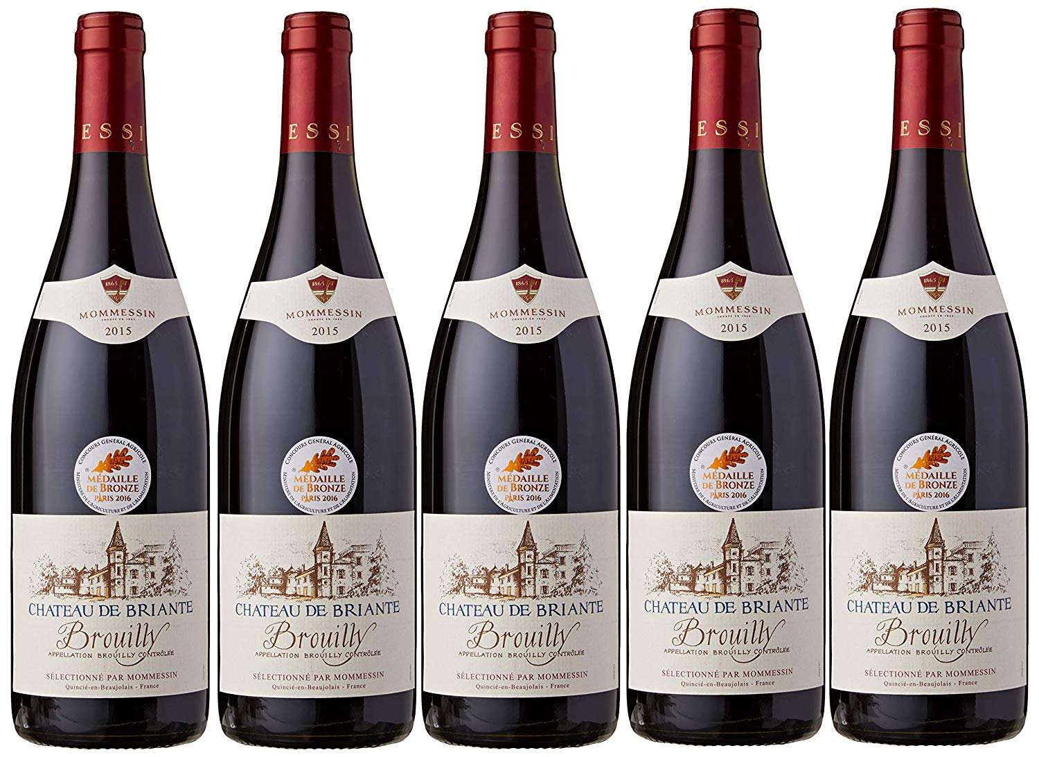 Lot 60 - 2015 Brouilly Chateau de Briante, Mommesin, Brouilly, Beaujolais, France, 6 bottles