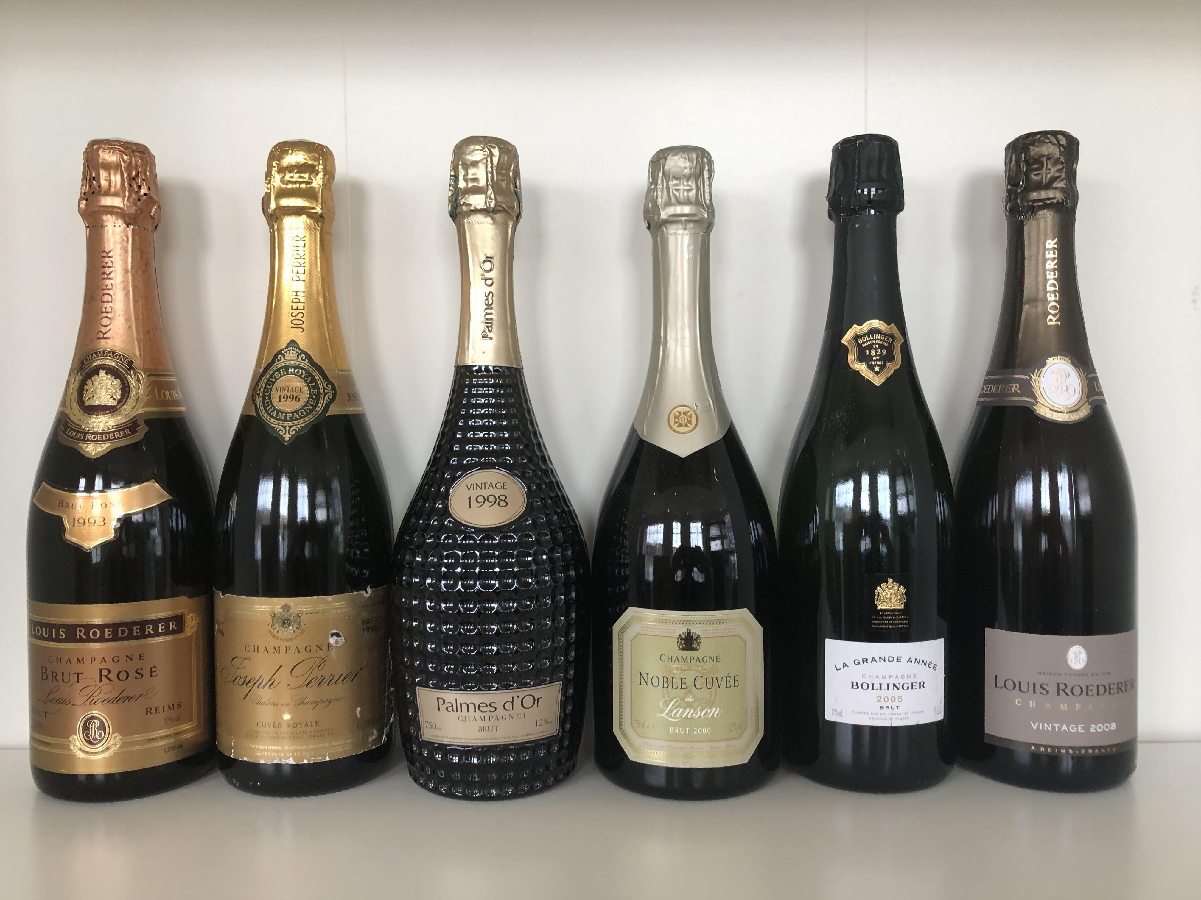 Lot 34 - Various Vintage Champagne Tasting Lot, Champagne, France, 6 bottles
