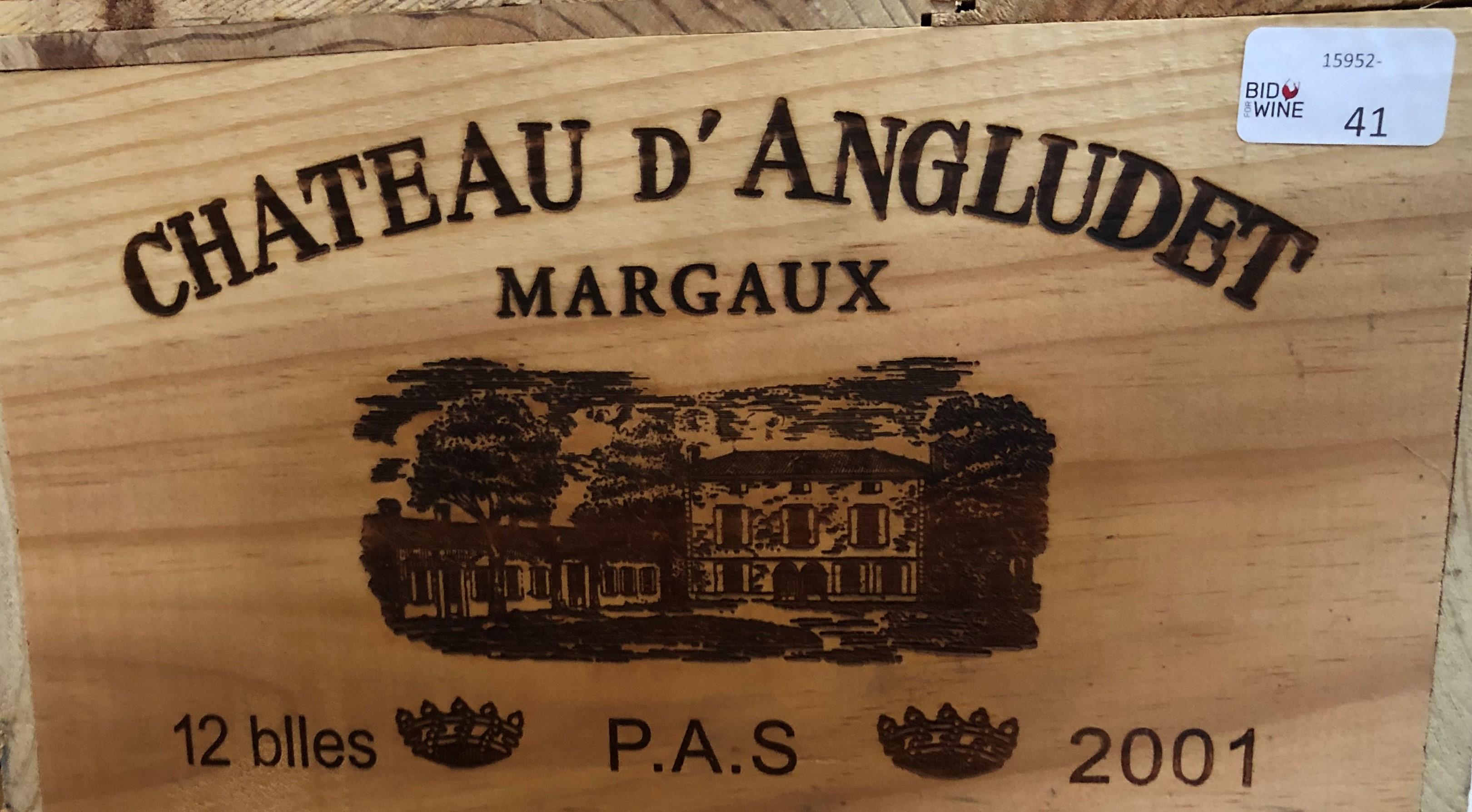 Lot 50 - 2001 Angludet, Margaux, Bordeaux, France, 12 bottles