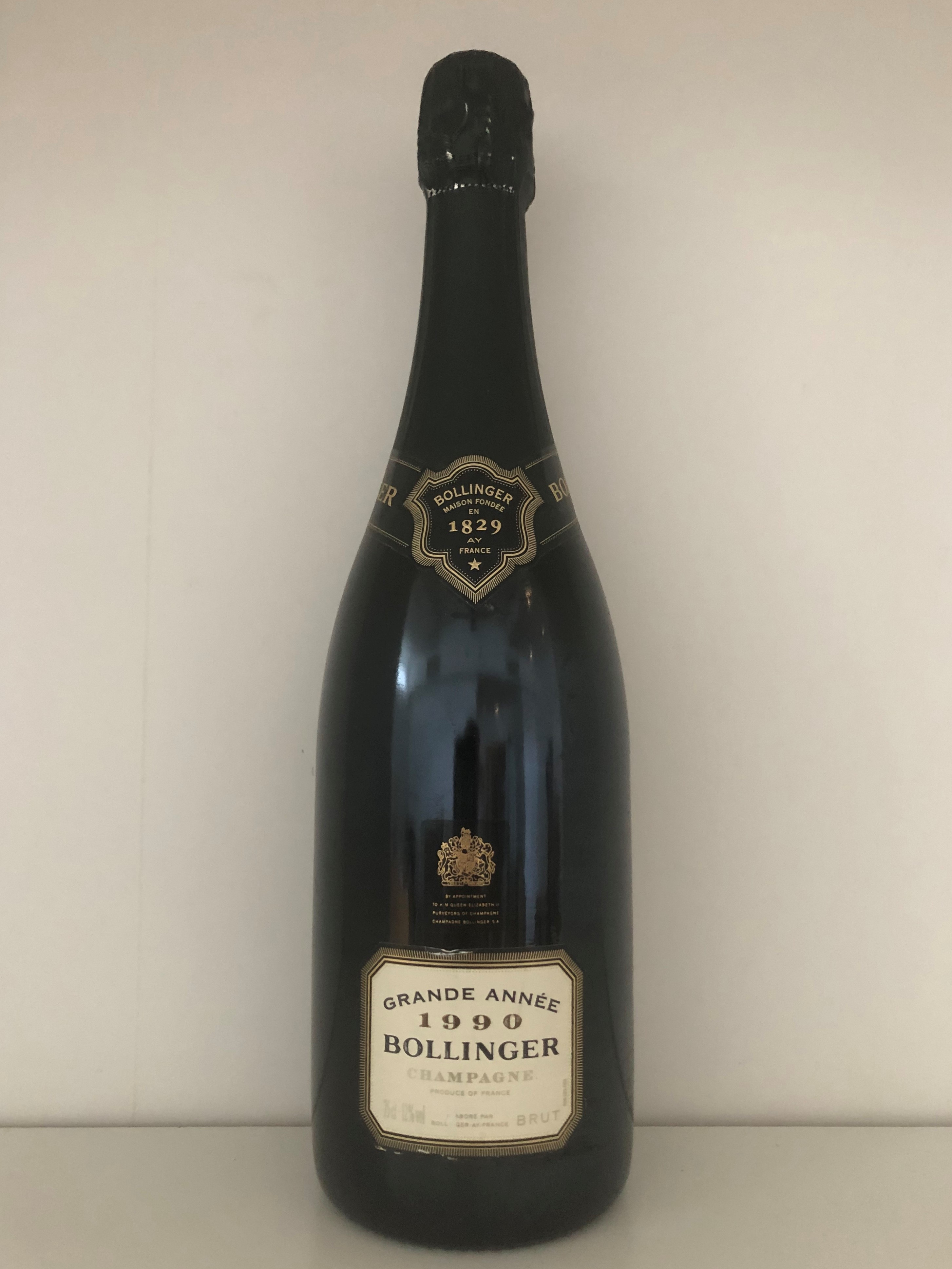 Lot 20 - 1990 Bollinger Grande Annee, Champagne, France, 1 bottle