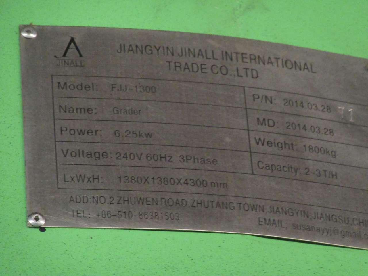 Lot 22 - 2014 Jiangyin Jinall International Trade Co. Grader