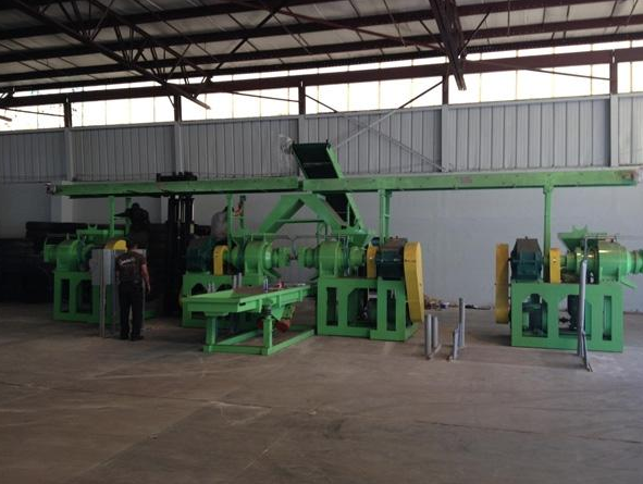 LATE MODEL TIRE RECYCLING LINES & EQUIPMENT OF GREEN WIZARD TIRE RECYCLERS LLC.