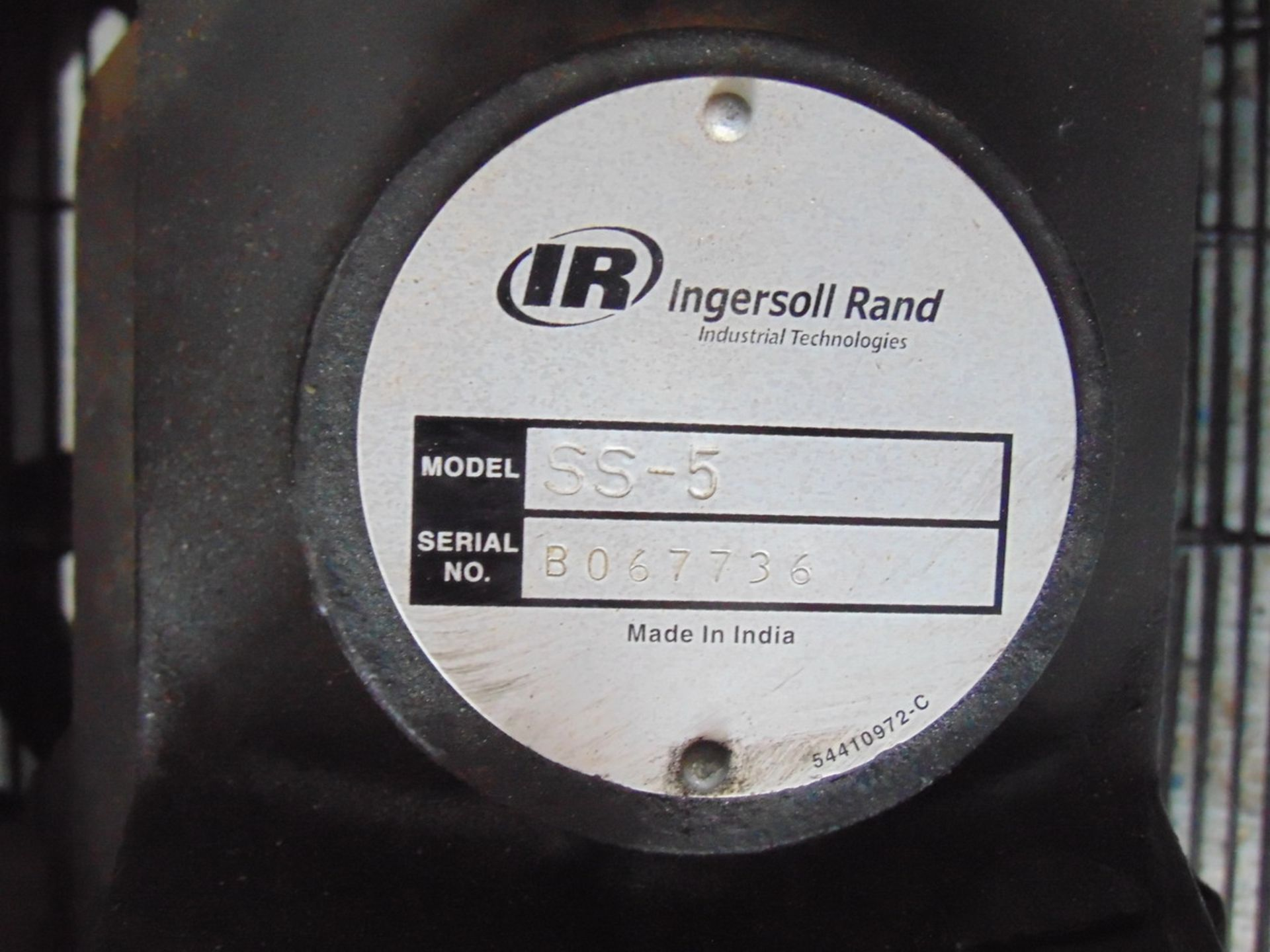 Lot 103 - Ingersoll Rand SS-5 5 HP Air Compressor Trailer EXCLUDED S/N B067736