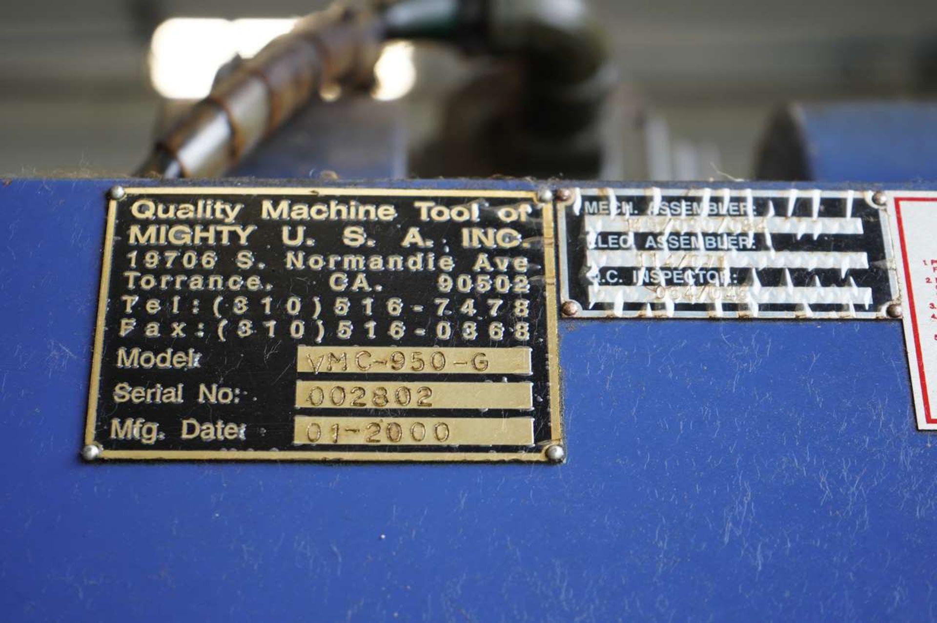 Lot 33 - 2000 Viper VMC950-G CNC Vertical Machining Center