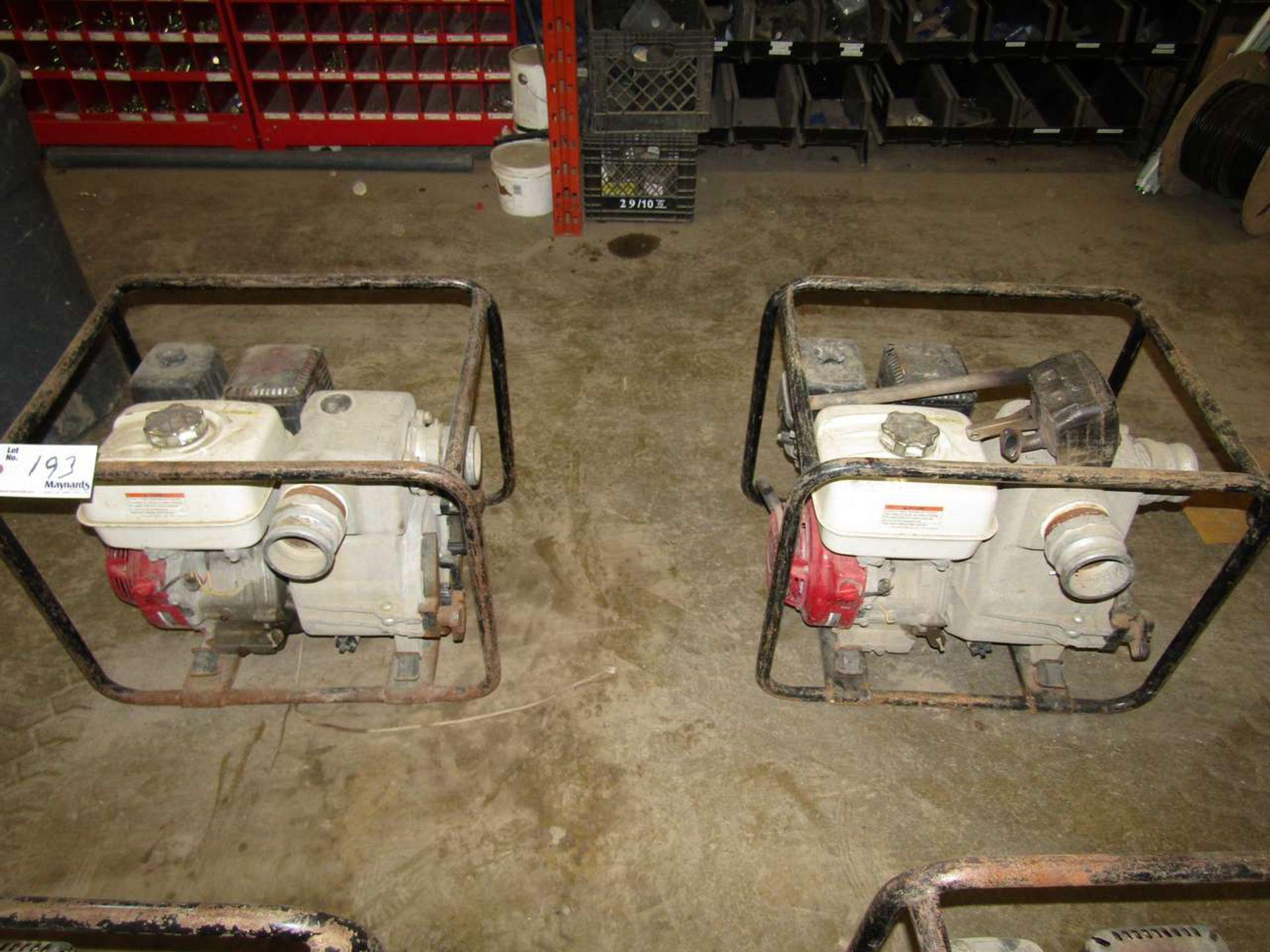Lot 193 - Honda GX 240 Water Pumps