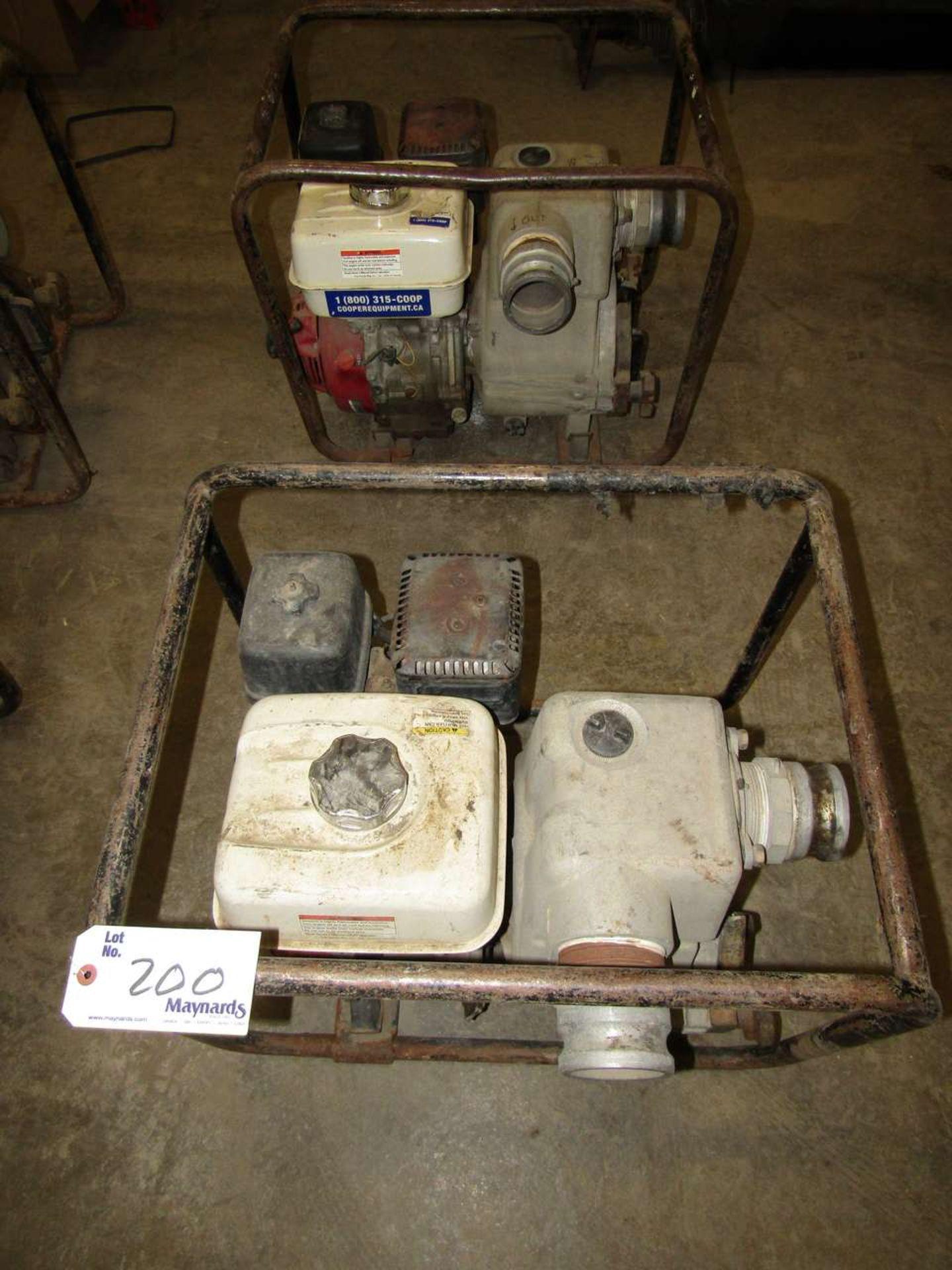 Lot 200 - Honda GX 240 Water Pumps