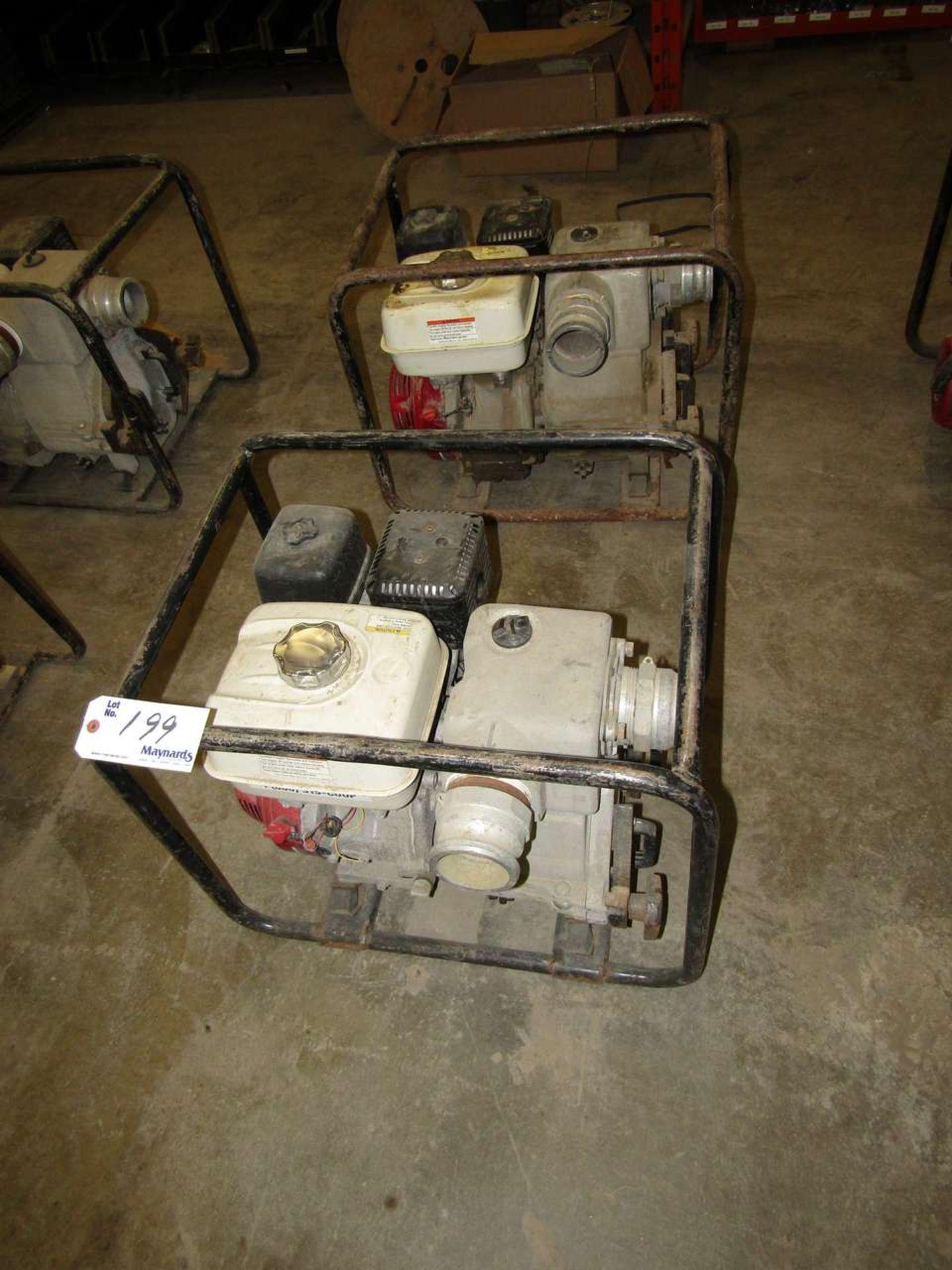 Lot 199 - Honda GX 240 Water Pumps