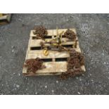 Lot 631N - Skid of Clamps and Chains For Trailers