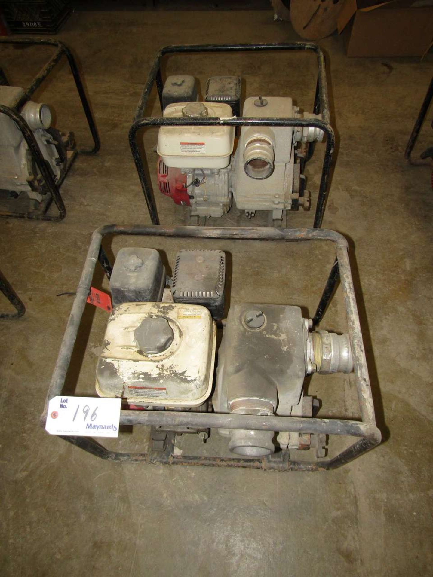 Lot 196 - Honda GX 240 Water Pumps