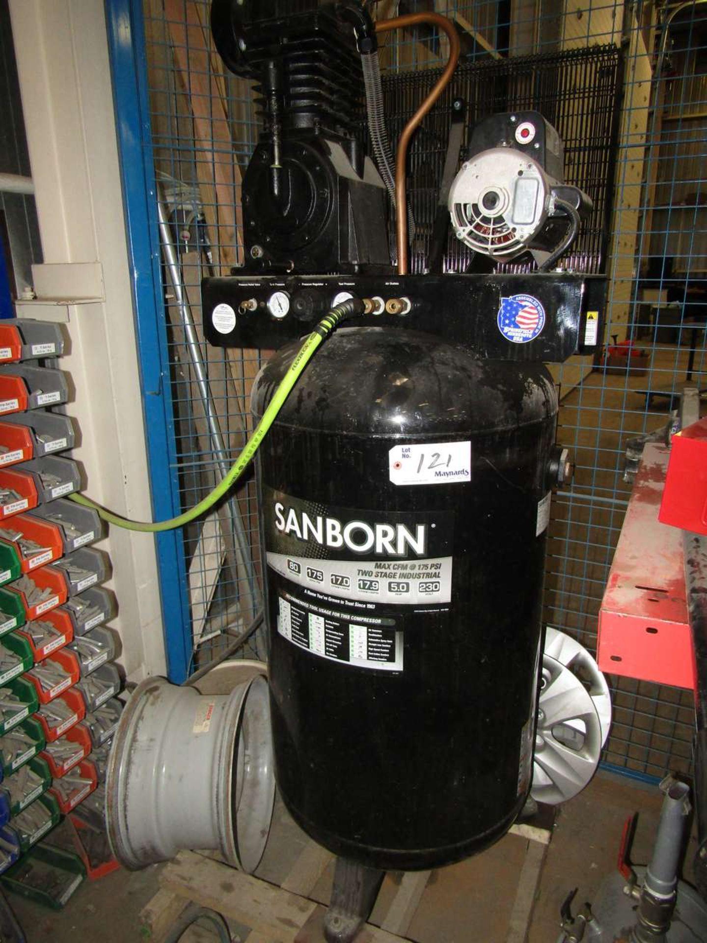 Lot 121 - Sanborn SV5048055 Compressor 80 Gallon