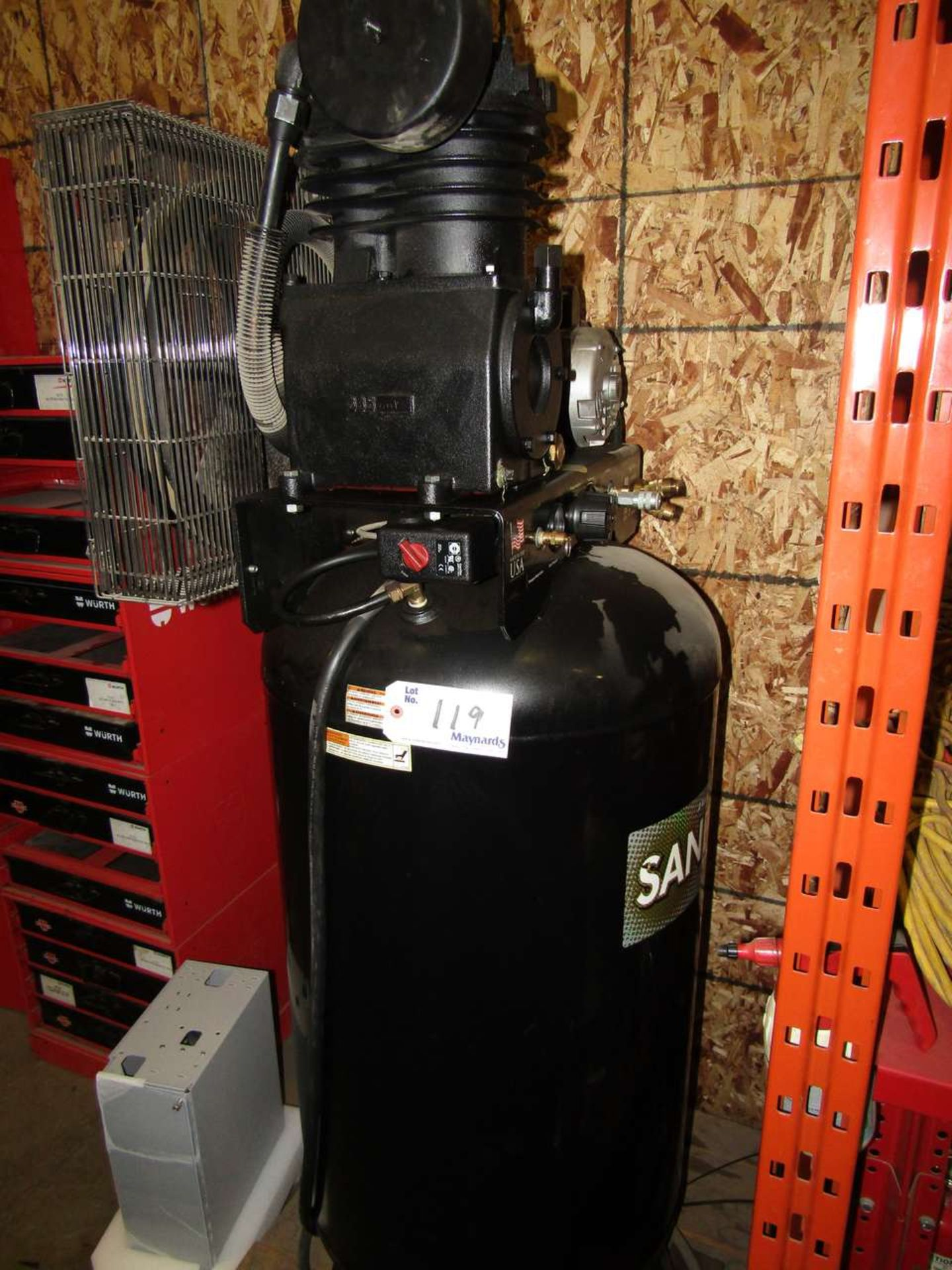 Lot 119 - Sanborn SV5048055 Compressor 80 Gallon