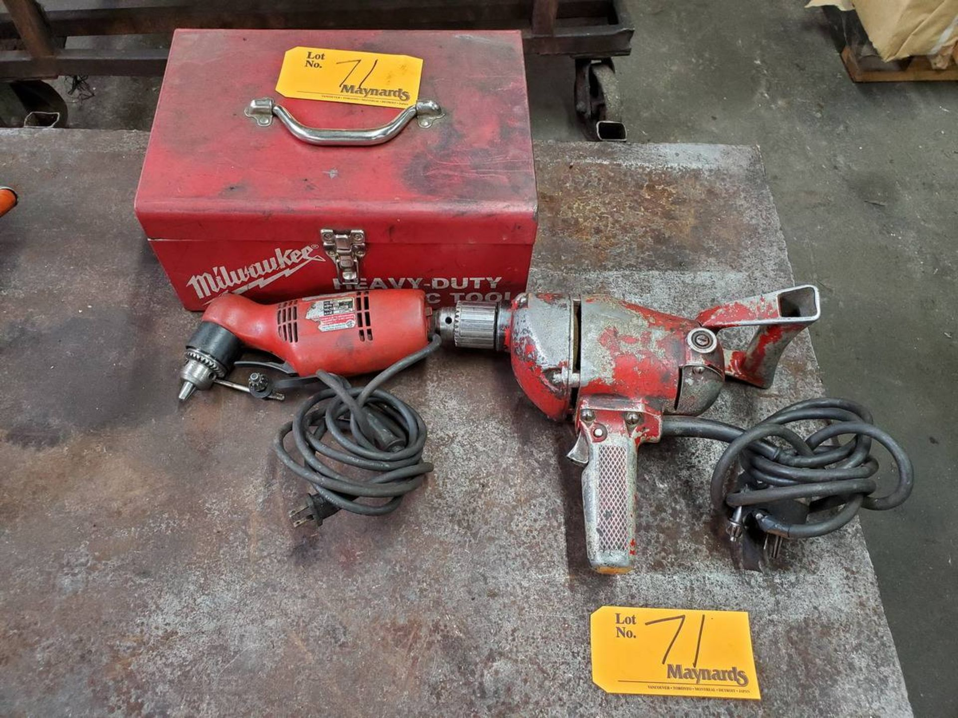 Lot 71 - Milwaukee Power Drills