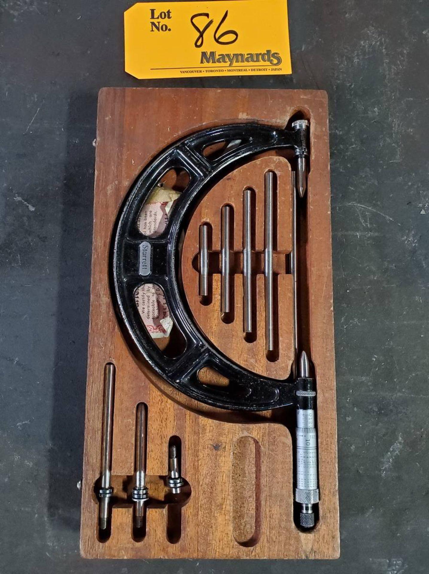 Lot 86 - Starrett Micrometer Set