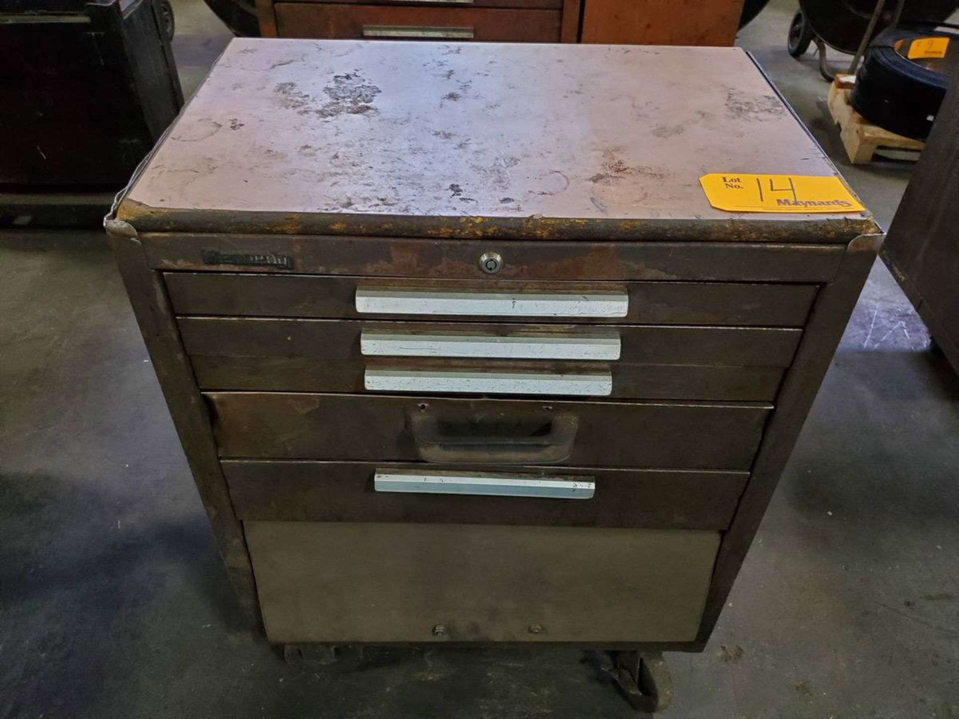 Lot 14 - Kennedy Rolling 5-Drawer Toolbox