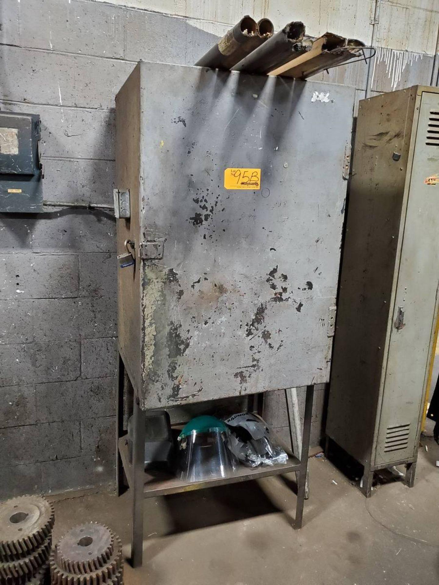 Lot 95B - Metal Welding Storage Locker W/ Contents