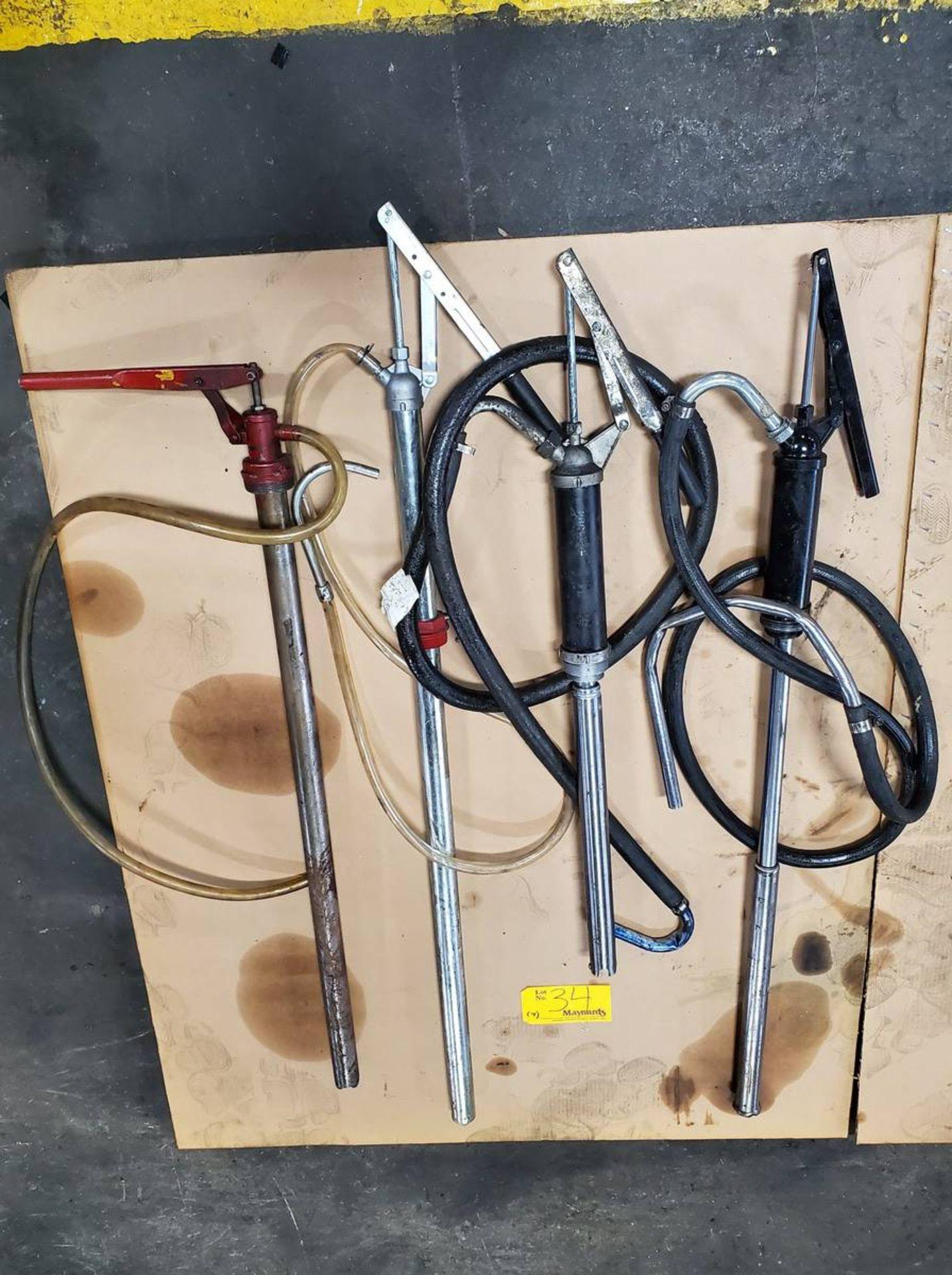 Lot 34 - Hand Oil Pumps