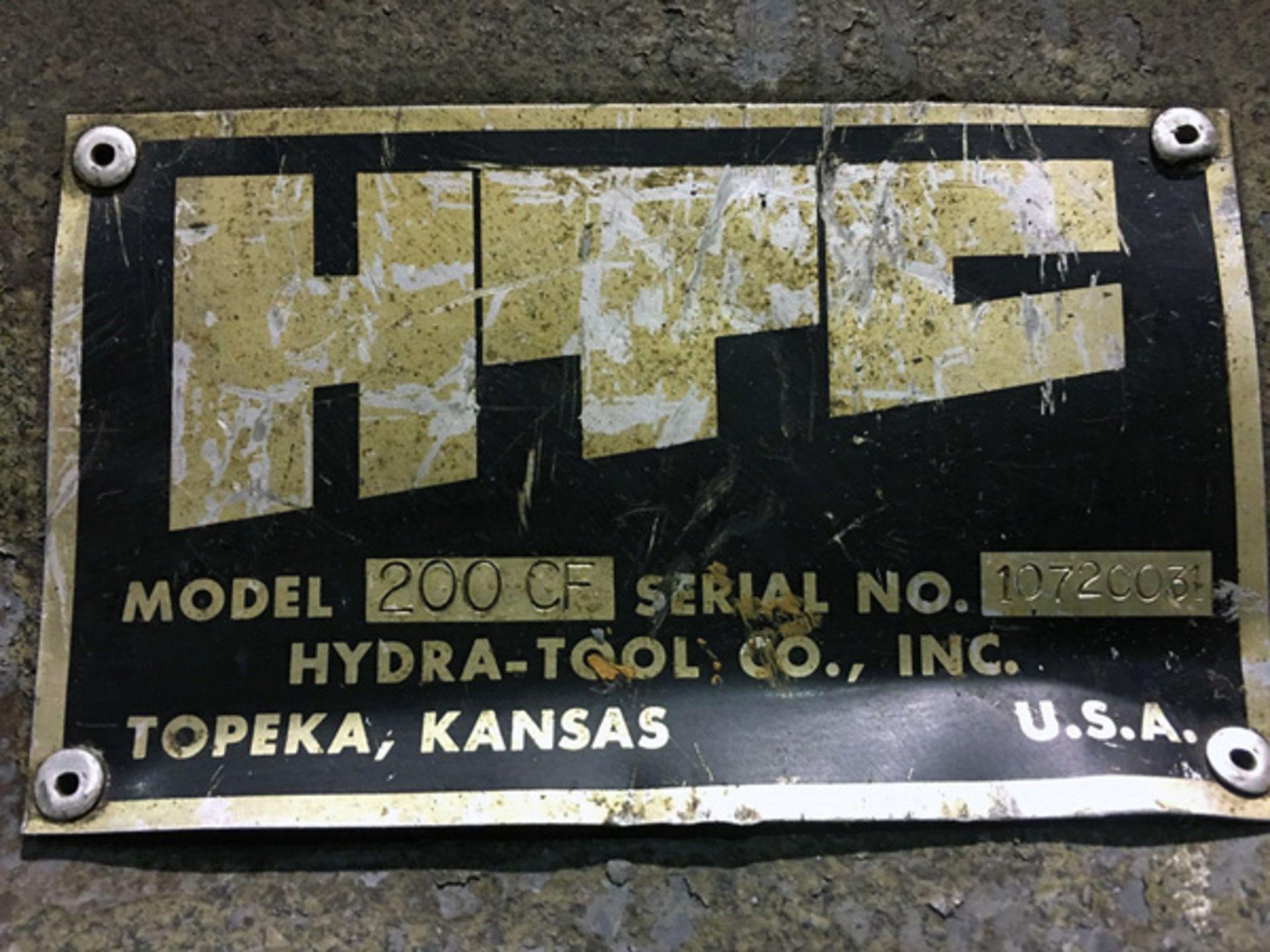 "Lot 32B - HTC Hydraulic C Frame Press   75 Ton x 48"" x 24"", Mdl: 200 CF, S/N: 1072C031 - 7838P"