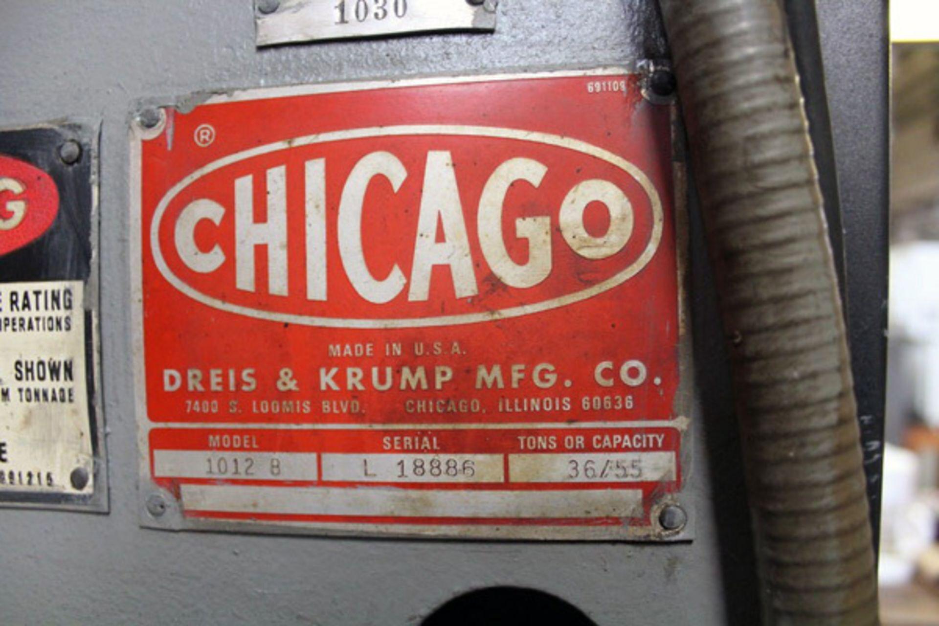 Lot 40 - Chicago CNC Air Clutch Press Brake | 55-Ton x 12', Mdl: 1012B, S/N: L-18886 - 8648P
