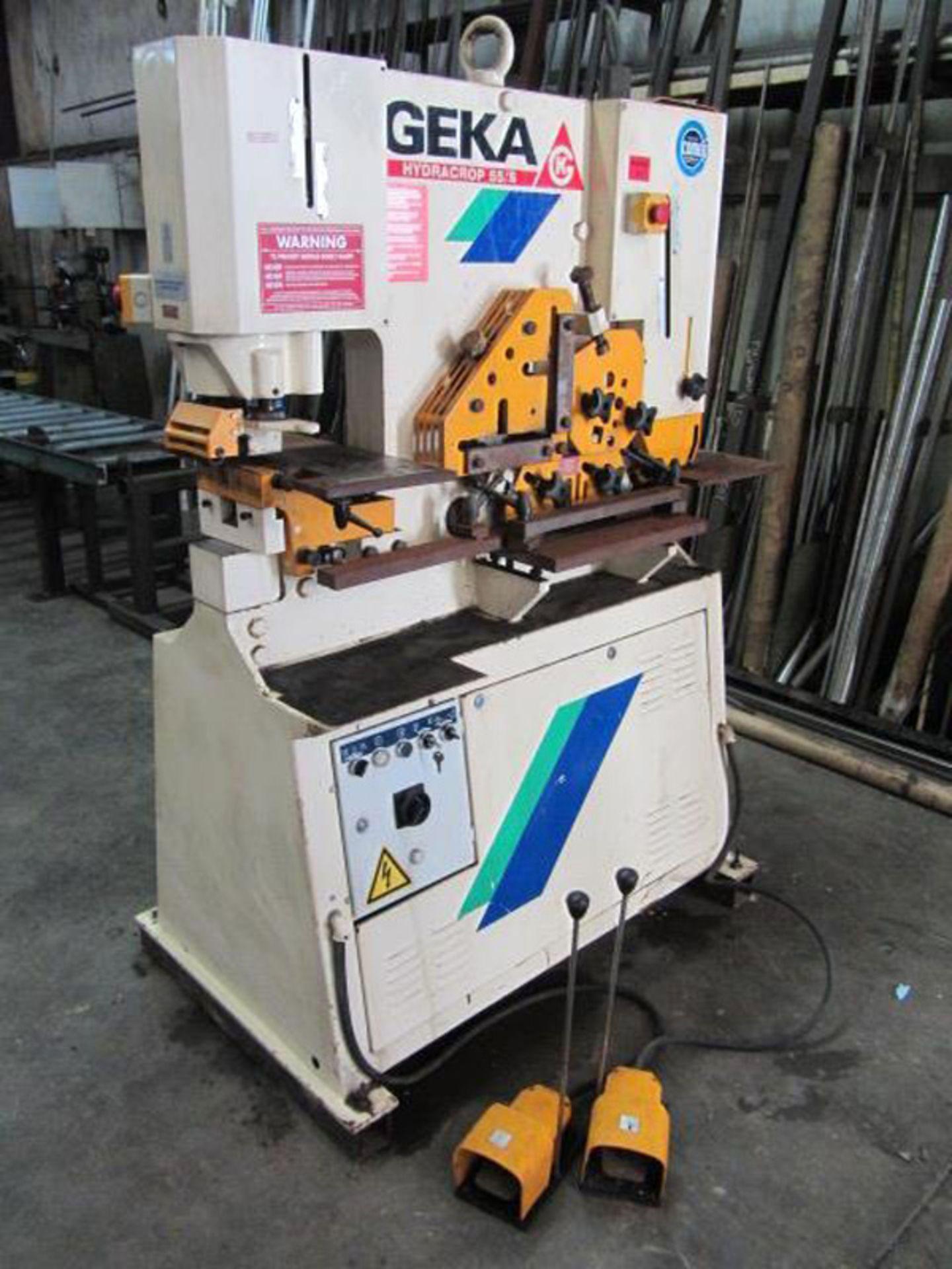 Lot 7 - 1999 Geka Hydraulic Ironworker | 50-Ton, Mdl: Hydracrop 55/S, S/N: 13018 - 8430P