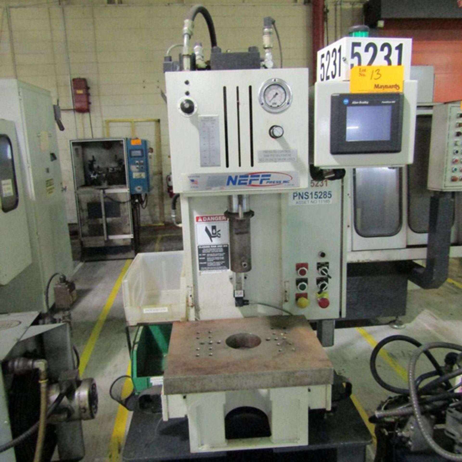 2008 Neff D7-5M C Hydraulic C Frame Press | 7-Ton, Mdl: D7-5M, S/N: 12335 - 8141P