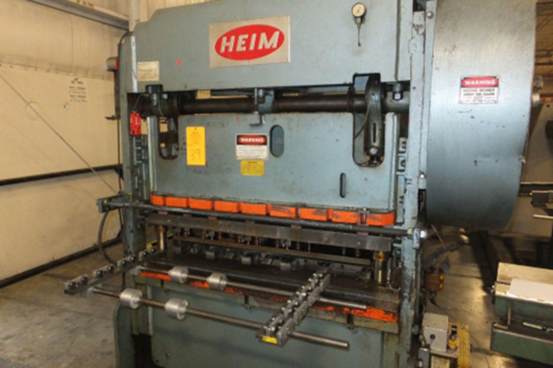 "Lot 26 - Heim Straight Side Double Crank Press   40-Ton x 56"" x 22"", Mdl: S2-40, S/N: H-3668 - 6932P"