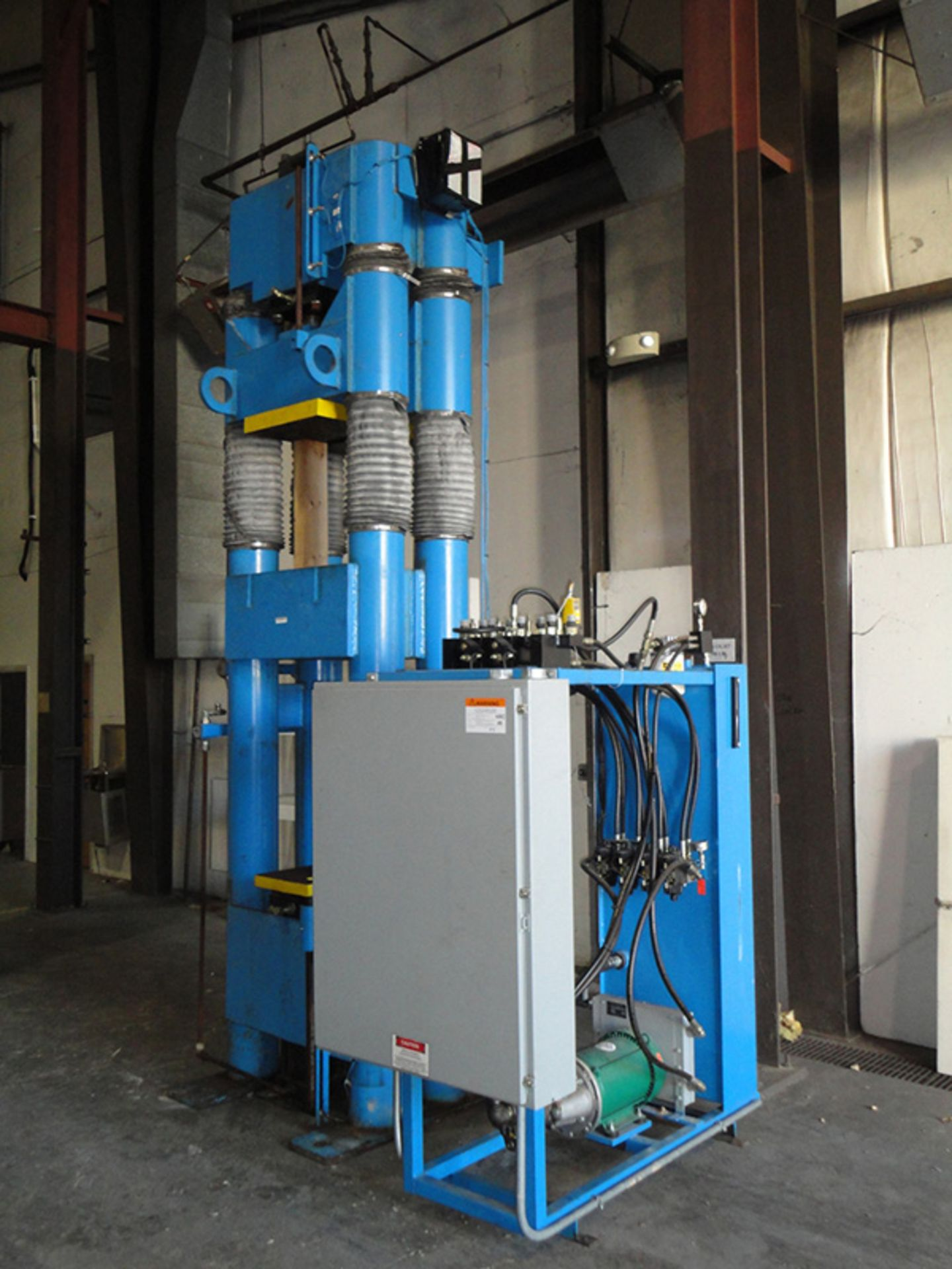 """Lot 23 - 2002 Beckwood Four Post Hydraulic Powder Compaction Press (Up & Down Acting) 