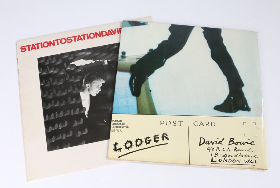 Lot 38 - 2x David Bowie LPs - Station to Station (APL1 1327), The Lodger (BOW LP 1)