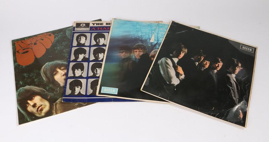 Lot 33 - 4x Beatles/Stones LPs. The Rolling Stones - Between The Buttons.The Rolling Stones. The Beatles -