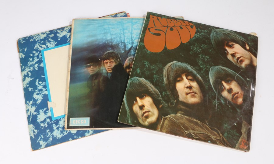 Lot 50 - 4x Beatles/Rolling Stones LPs. Beatles(2) - Rubber Soul (PMC 1267). Please Please Me (PMC 1202).