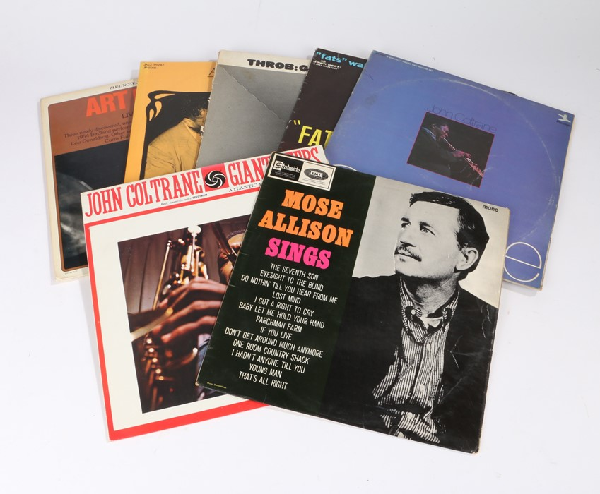 Lot 34 - 7x Jazz LPs. Artists to include John coltrane, Fats Waller and Mose Allison