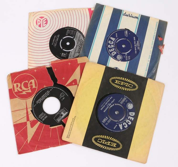 """Lot 57 - 4x 1960s 7"""" Singles The Jimi Hendrix Experience - Voodoo Chile. The Rolling Stones - Little Red"""
