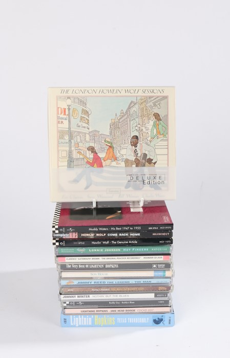 Lot 9 - 14 x Blues compilation CDs to include Howlin Wolf, Muddy Waters, Buddy Guy, Johnny Winters,