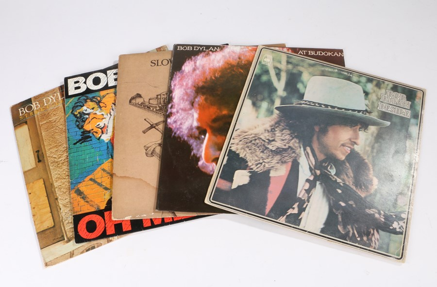 Lot 39 - 5x Bob Dylan LPs - At Budokan, Desire, Oh Mercy, Slow Train Coming, Street Legal