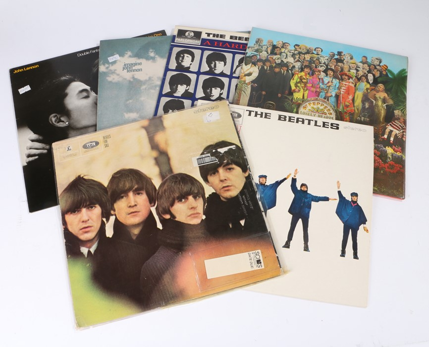 Lot 37 - 4x Beatles LPs - A Hard Days Night, Beatles For Sale, Help!, Sgt Peppers Lonely Hearts Club Band,