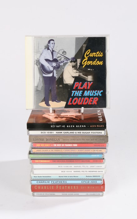 Lot 16 - Collection of CDs to include Rockabilly and Skiffle compilations by Artists such as Lonnie
