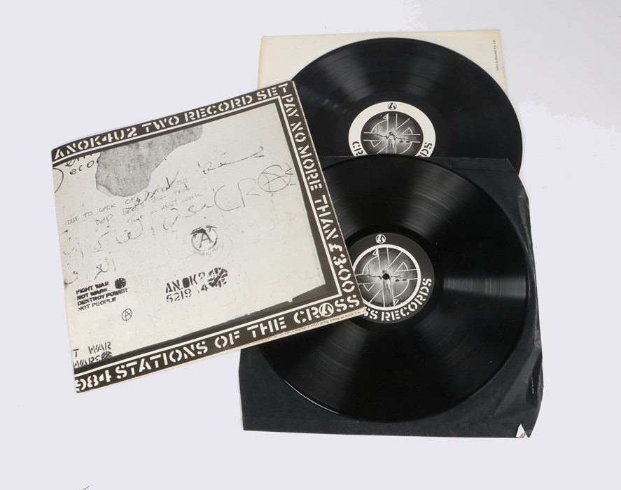 Lot 27 - Crass - Stations of the Crass 2xLP with fold out sleeve (521984)