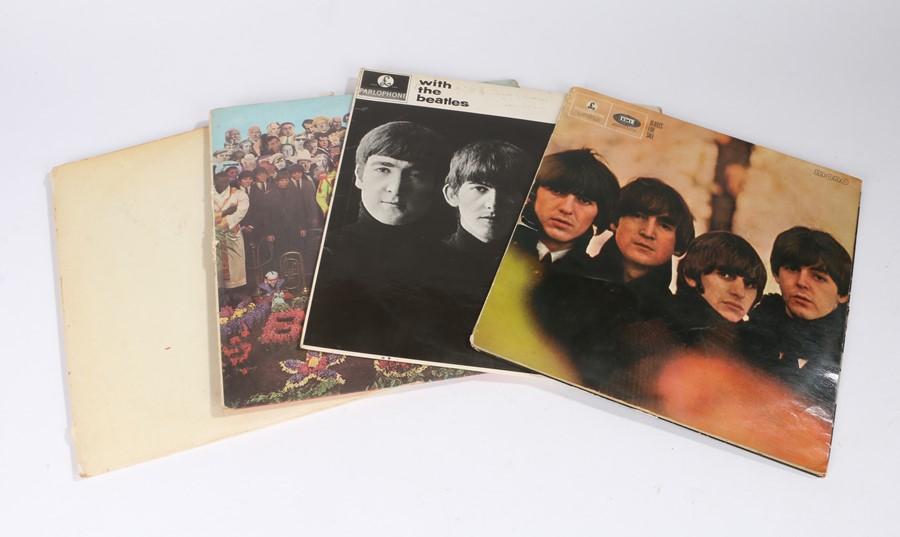 Lot 8 - 4x Beatles LPs - The white album (PMC 7067) with four colour prints. Beatles for sale (PMC 1240),