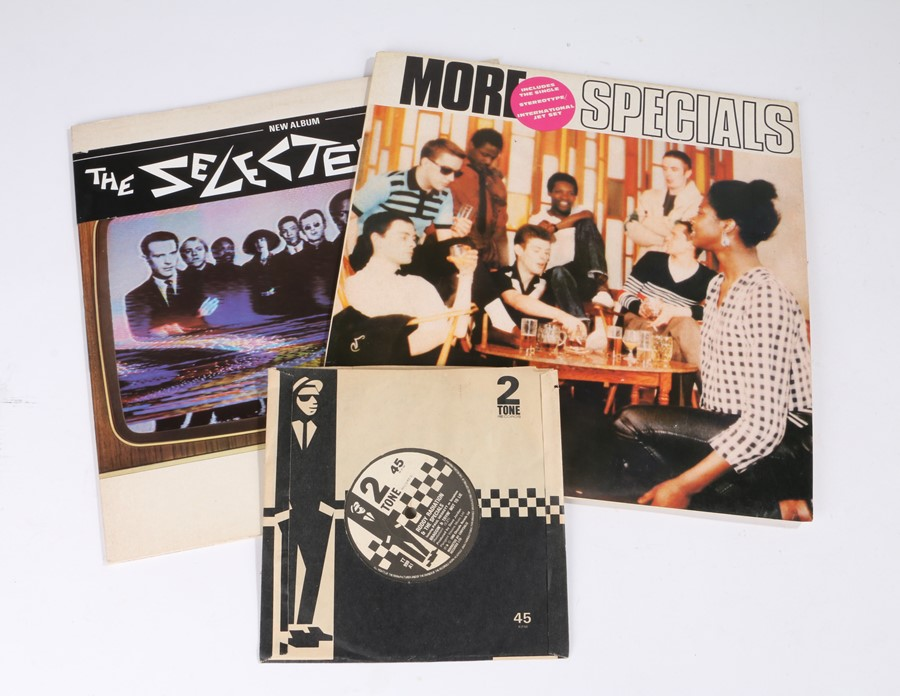 "Lot 43 - 2x 80s 2Tone/Ska LPs. The Specials - More Specials w/ Poster and 7"" Single, Roddy Radiation and"