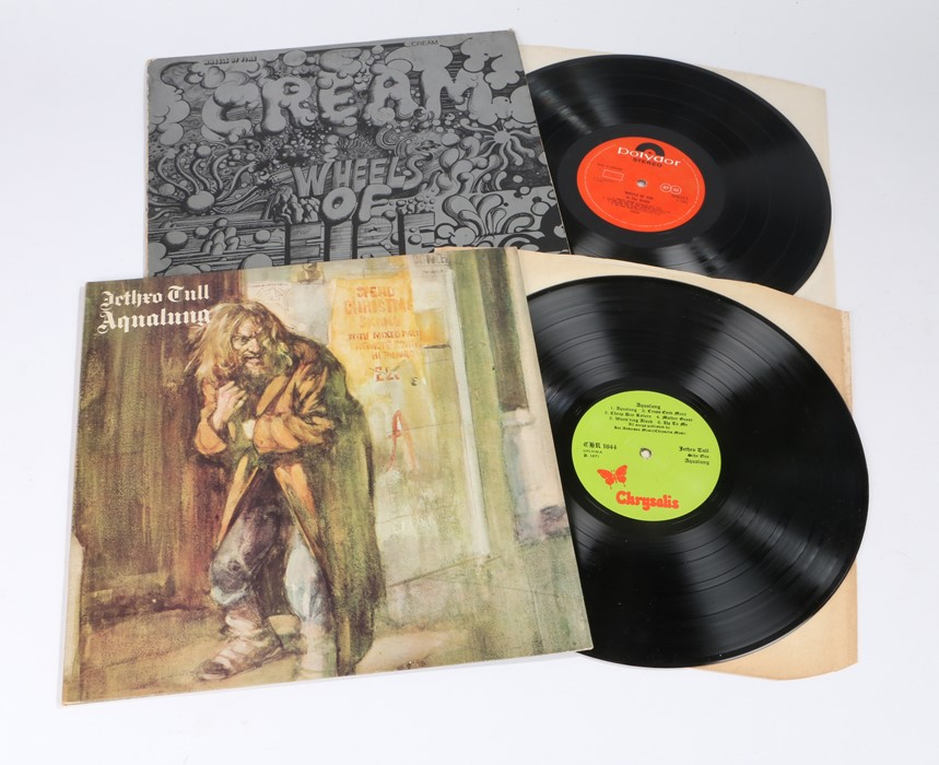 Lot 40 - 2x Rock LPs. Cream - Wheels of Fire - In The Studio (583033A), Jethro Tull - Aqualung, textured
