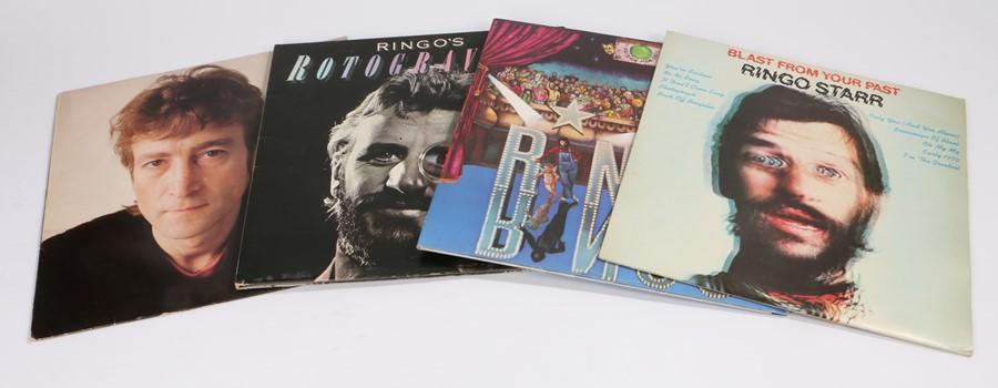 "Lot 13 - 3 x Ringo Starr & 1 x John Lennon LPs. Ringo Starr - Rotogravure (Polydor Deluxe 2302 040), """