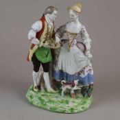 "Porzellangruppe ""Galantes Paar"" - Wien, um 1765, unterglasurblauer Bindenschild,"