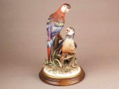 Tierplastik - Capodimonte, Neapel, Entwurf von Pietro Carpie, polychrom bemalt, auf naturalistischem