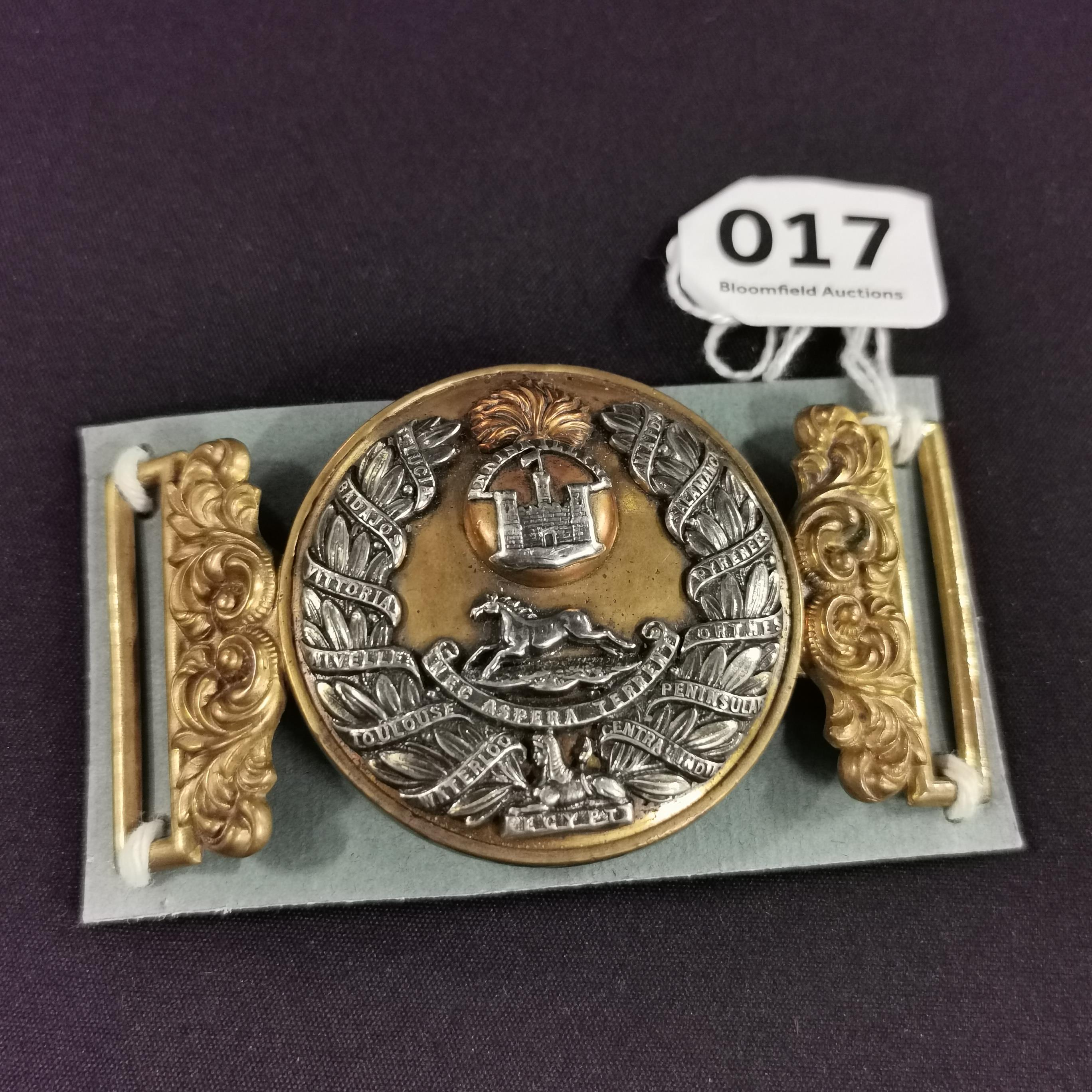 Lot 17 - OFFICERS W.B.C INNISKILLING FUSILIERS POST 1881