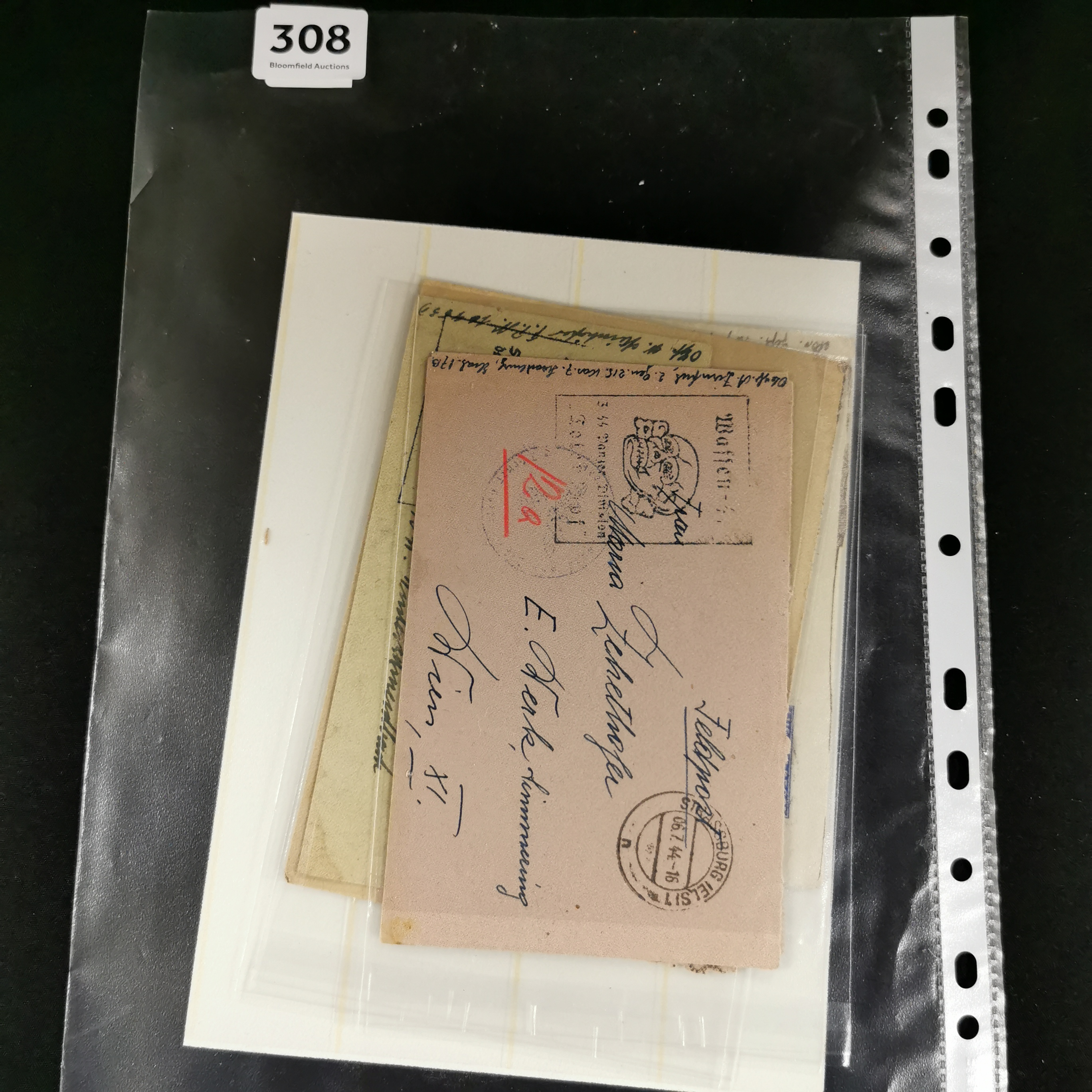 Lot 308 - WW2 GERMAN POSTAL COVERS & STAMPS