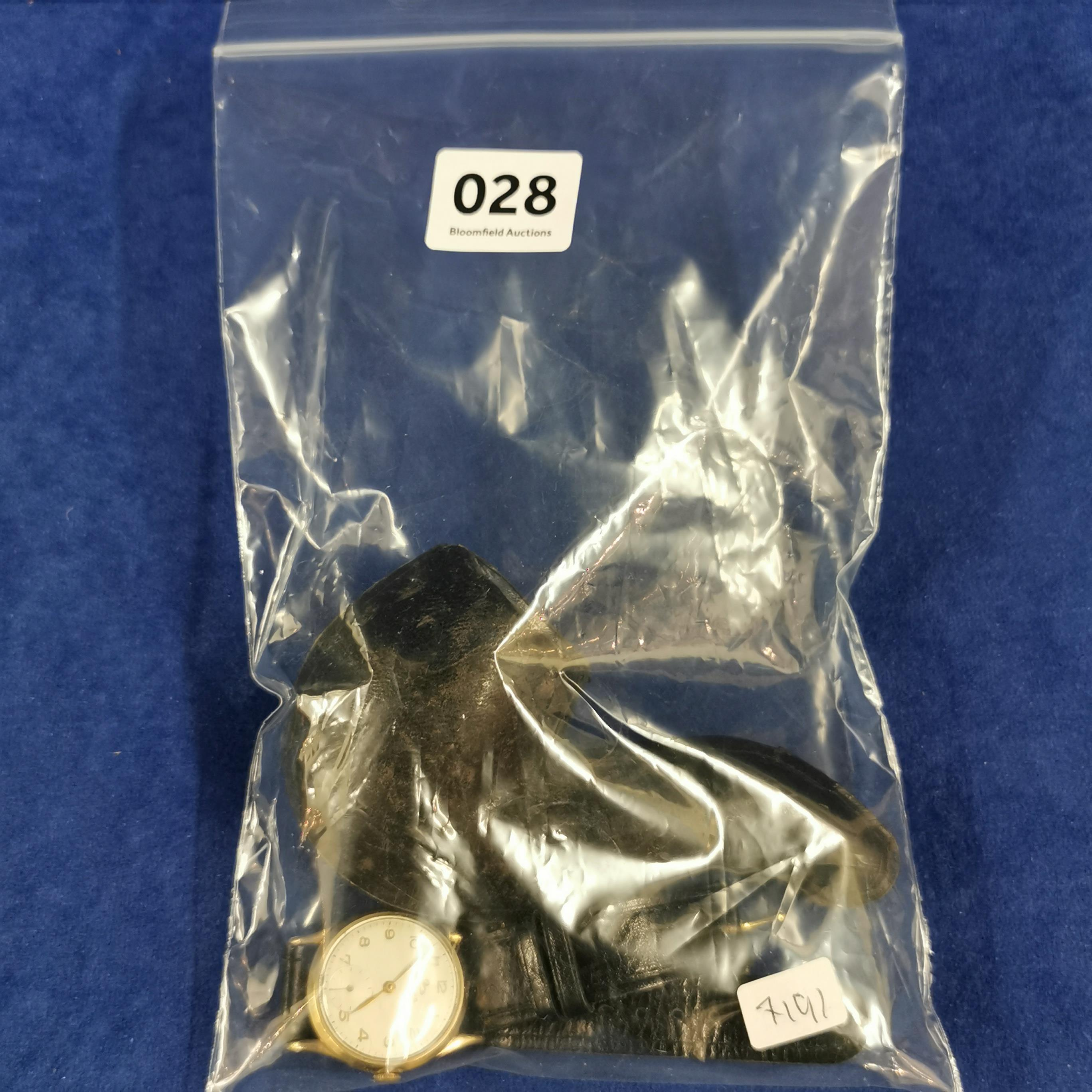 Lot 28 - BAG LOT OF GOLD ITEMS TO INCLUDE GOLD WATCH