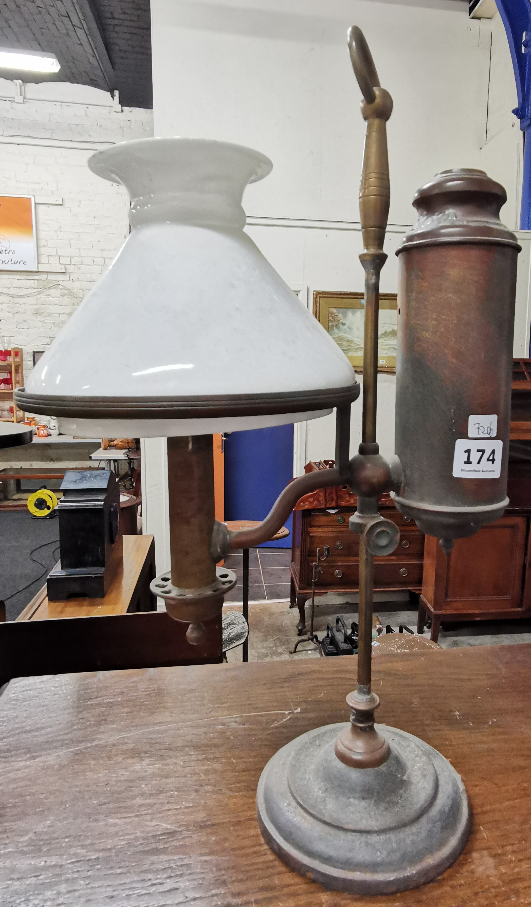 Lot 174 - OLD RISE & FALL LAMP