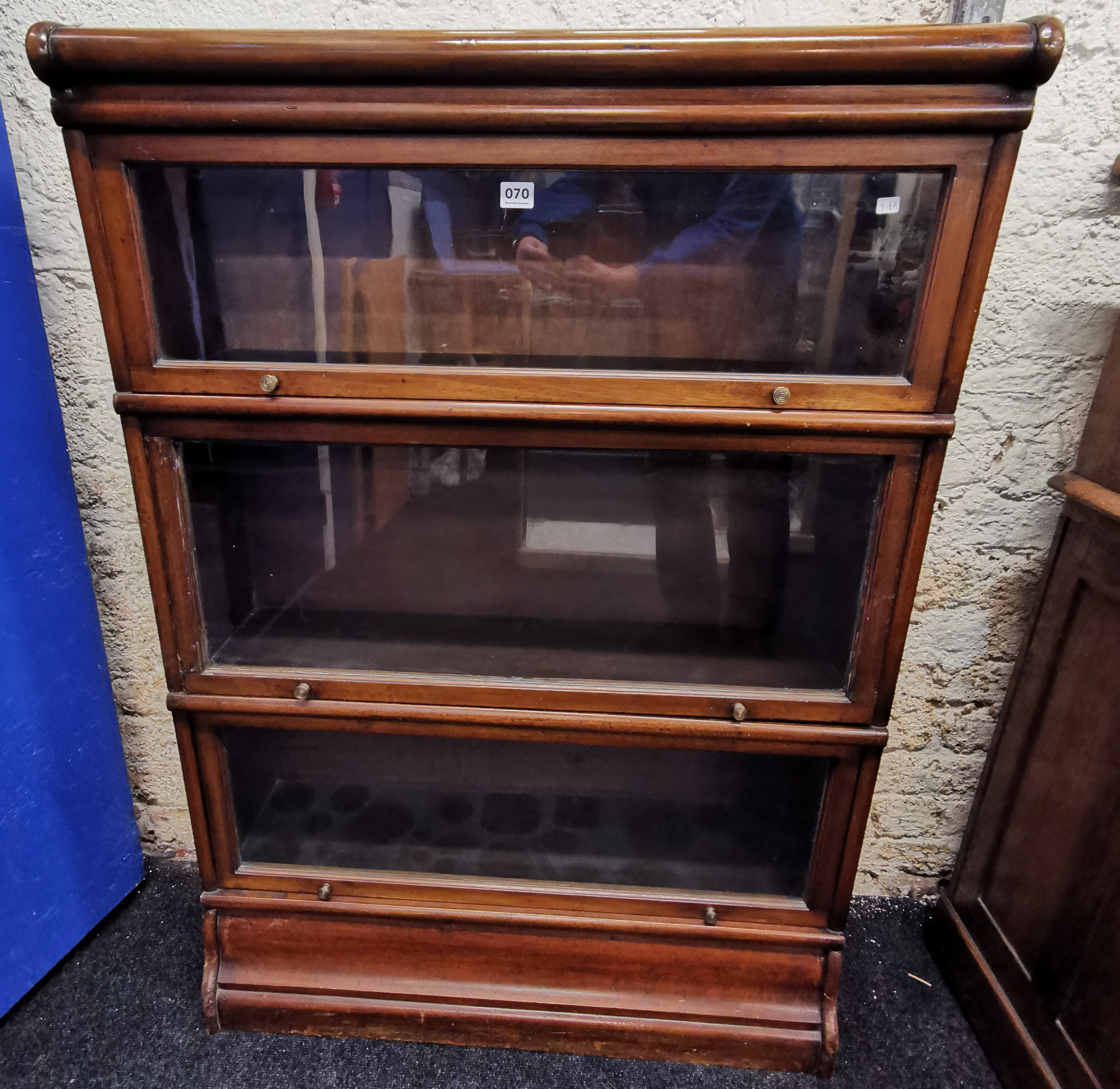 Lot 70 - STACKING BOOKCASE