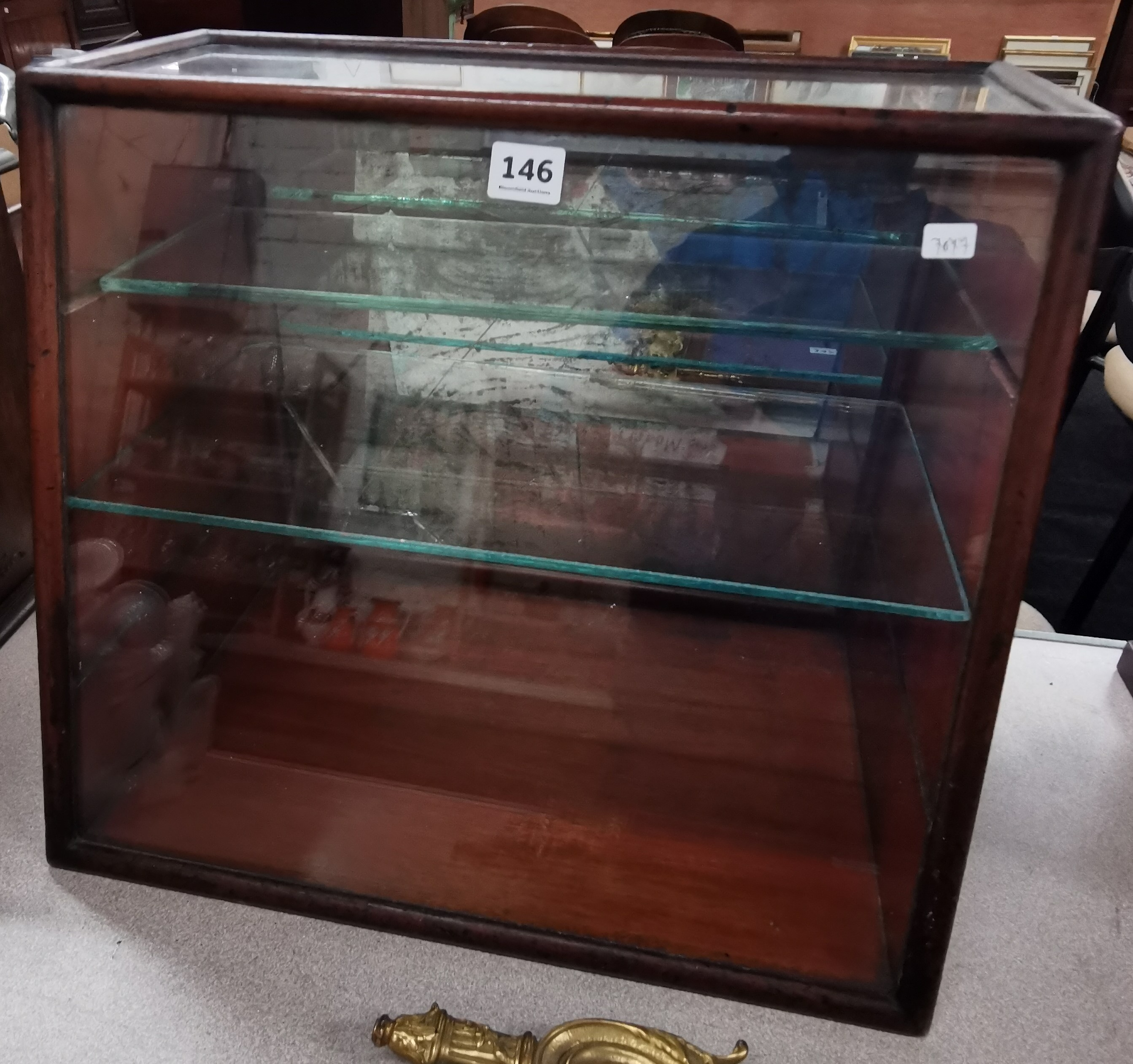 Lot 146 - OLD DISPLAY CABINET