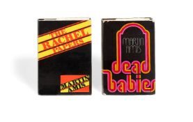 Ɵ Martin Amis, The Rachel Papers and Dead Babies, author's first two novels, first editions