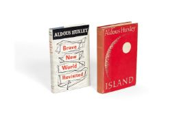 Ɵ Aldous Huxley, Brave New World Revisited, and Island, together two first editions